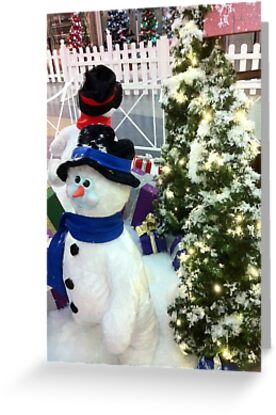 Snowman & Tree by spitfire007