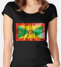 Grenada Flag Women's Fitted Scoop T-Shirt