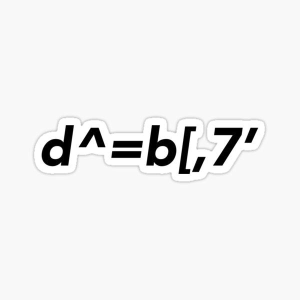 I like you / d^=b[,7' Sticker