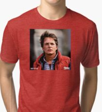 NOW IS THE FUTURE - Marty Mcfly  Tri-blend T-Shirt