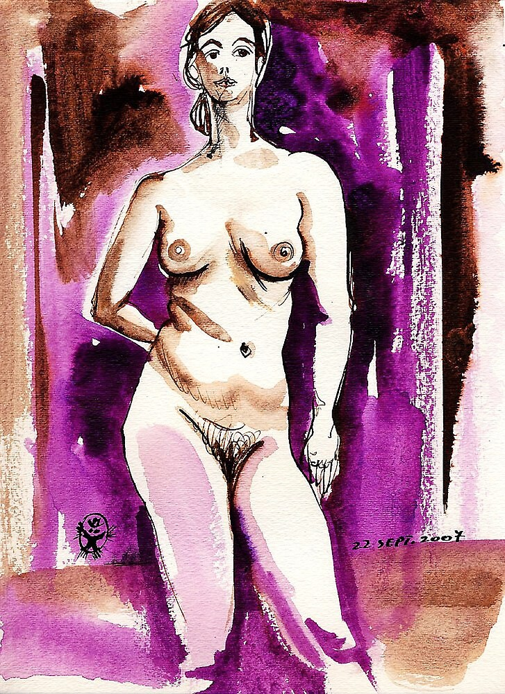 Drawing of Marie-Lise Naked by ivDAnu