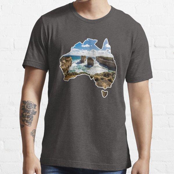 Outlined Australia - Twelve Apostles - Twelve Apostles - Great Ocean Road Essential T-Shirt