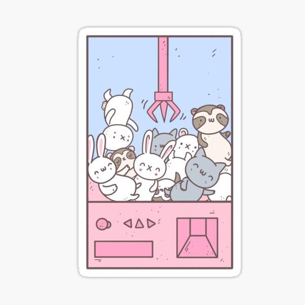 Greifmaschine Tiere Kawaii Design Sticker
