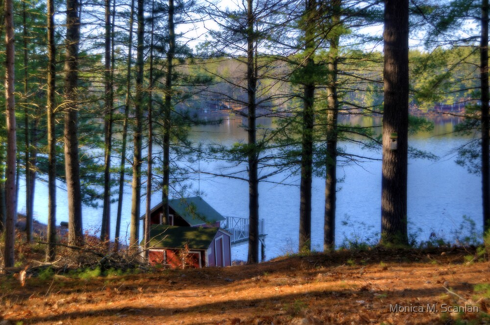 The Boathouse on Lake Whittemore by Monica M. Scanlan