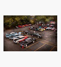 Car - Antique car show  Photographic Print