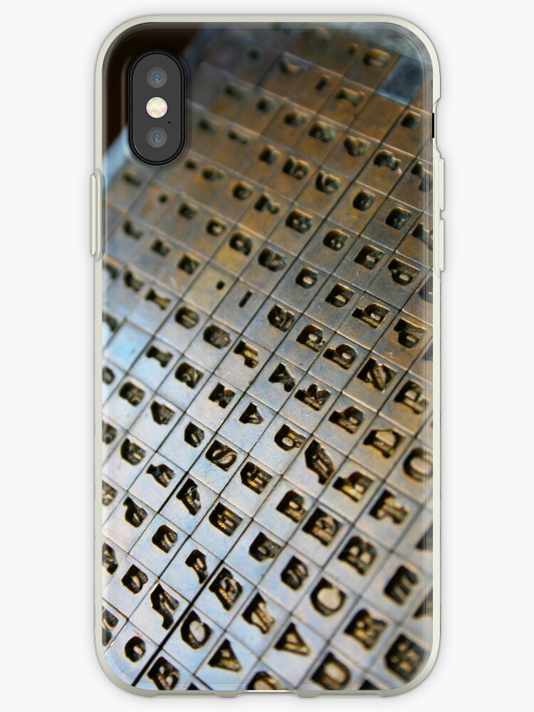 Type - iPhone Case by Christopher Herrfurth