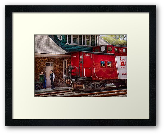 Train - Caboose - End of the line by Michael Savad