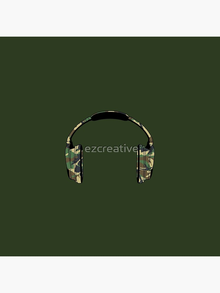 Headphones (Camouflage) by ezcreative