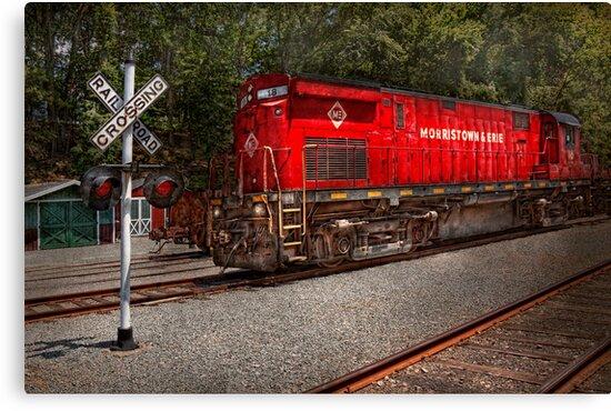 Train - Diesel - Morristown Erie  by Mike  Savad
