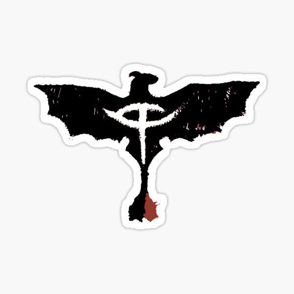 Black Dragon Cute Mark Fury Sticker