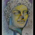 """""""Head of Agrippina"""" Prismacolor Pencil by Magaly Burton"""