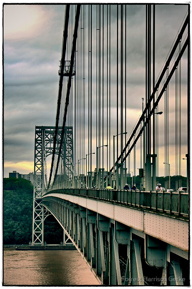 Suspension Cables on the GWB by Forrest Harrison Gerke