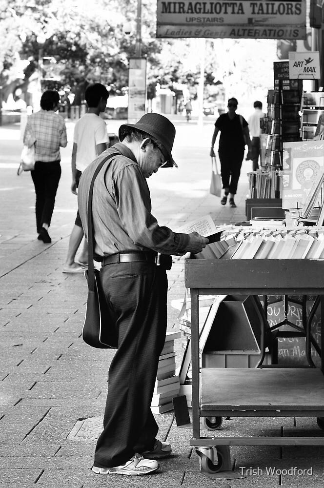 The Bookman B/W by Trish Woodford