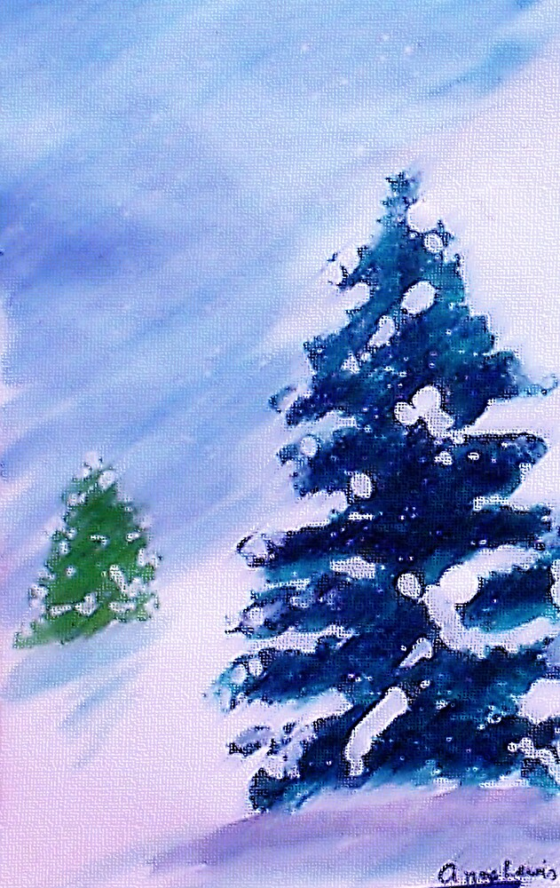 Merry Christmas!  Watercolor by Anna  Lewis, blind artist