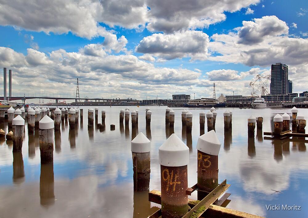 Docklands Harbour, Marine piles by Vicki Moritz