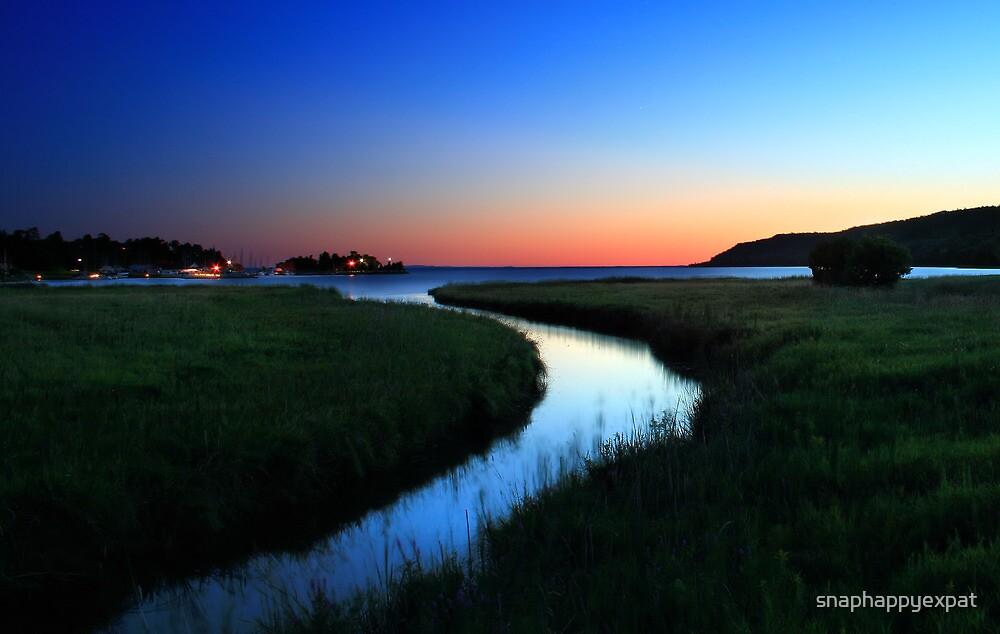 Sunrise over Gore Bay, Manitoulin Island, Ontario by snaphappyexpat