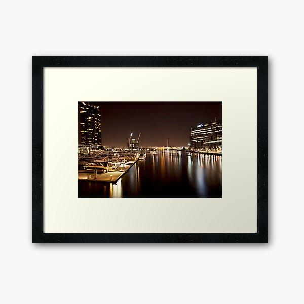 Docklands by night Framed Art Print