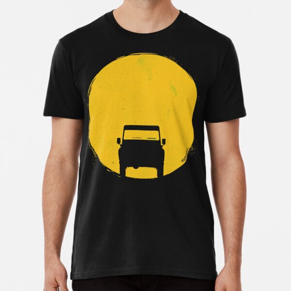 Landrover Defender car sunset sun Premium T-Shirt