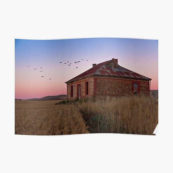 Burra Homestead Ruin & Twilight Birds Poster