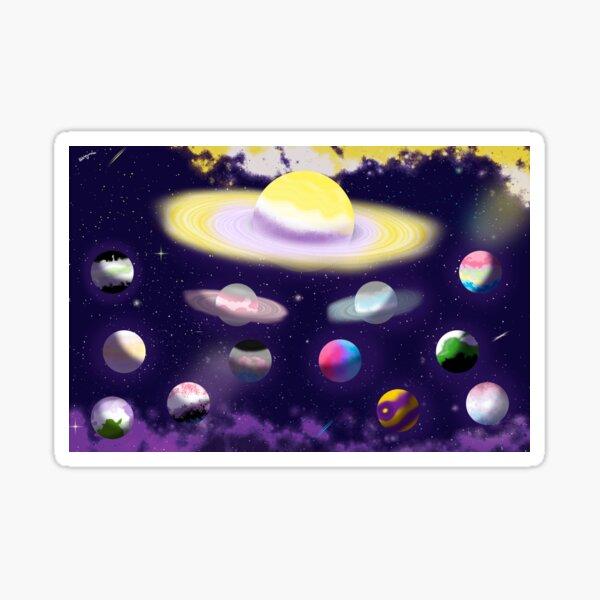 The Non-Binary Galaxy Sticker