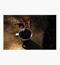 Autumn Coffee  Photographic Print