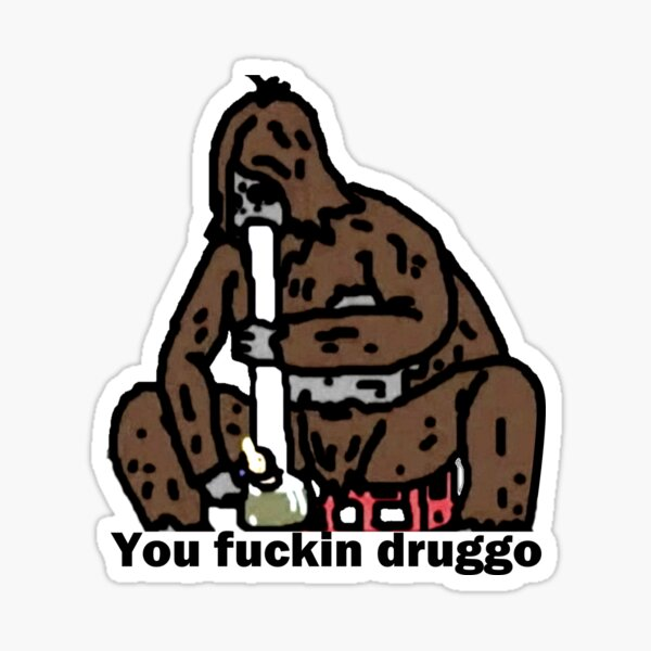 Sassy the Sasquatch fucking druggo big lez show (don't buy from that other guy) Sticker