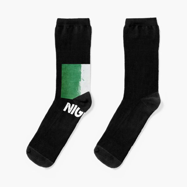 Adult Half USA Half Nigerian Flag Athletic Ankle Socks