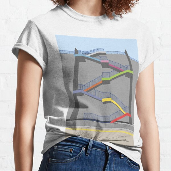 Ramsgate Harbour Rainbow Colour Stairs  Classic T-Shirt