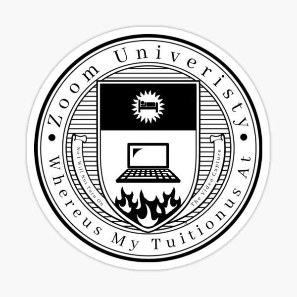 Zoom University Sticker