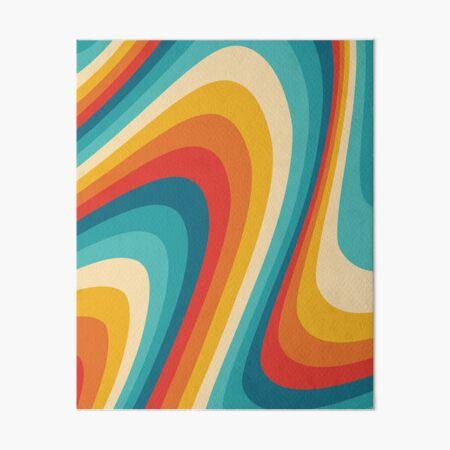 70s Retro Aesthetic Art Board Print