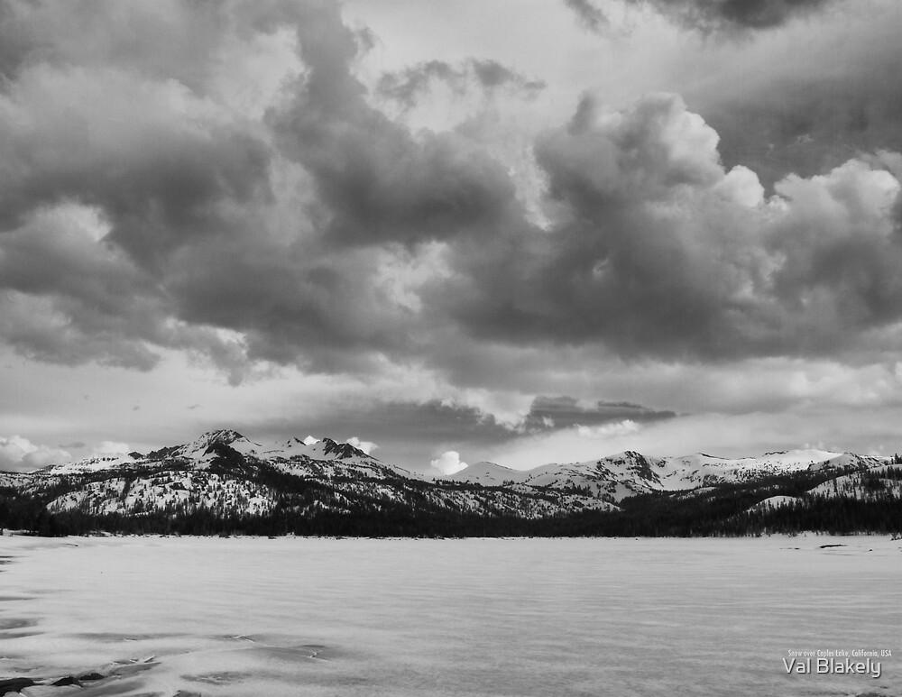 Snow at Caples Lake by Val Blakely