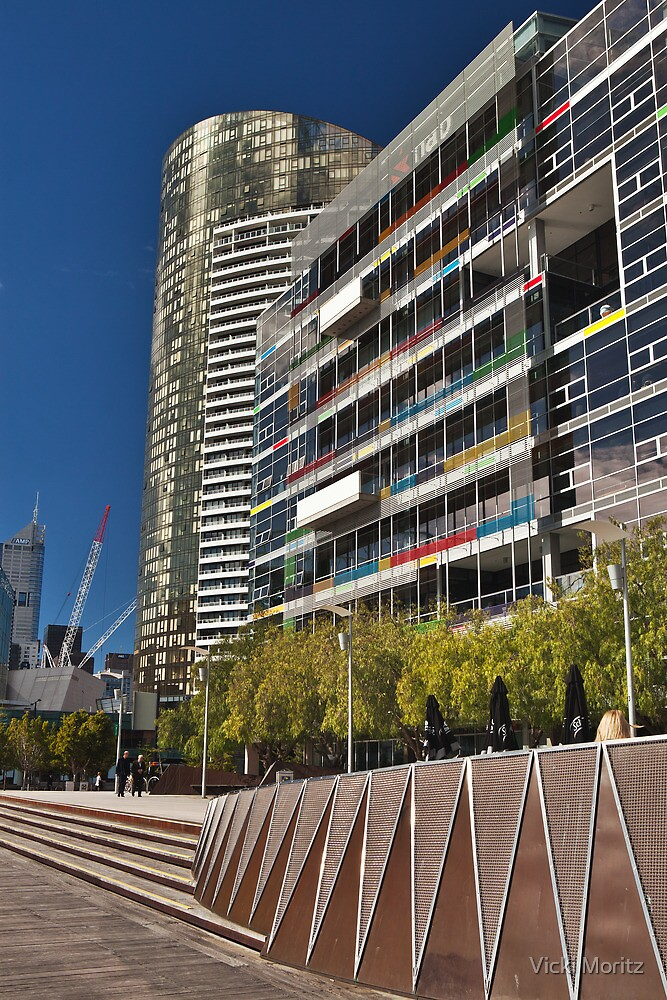 Docklands, View along the Harbour walk by Vicki Moritz