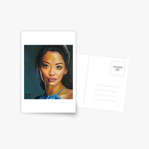 portrait piece - asian beauty Stephanie Jacobsen Postcard