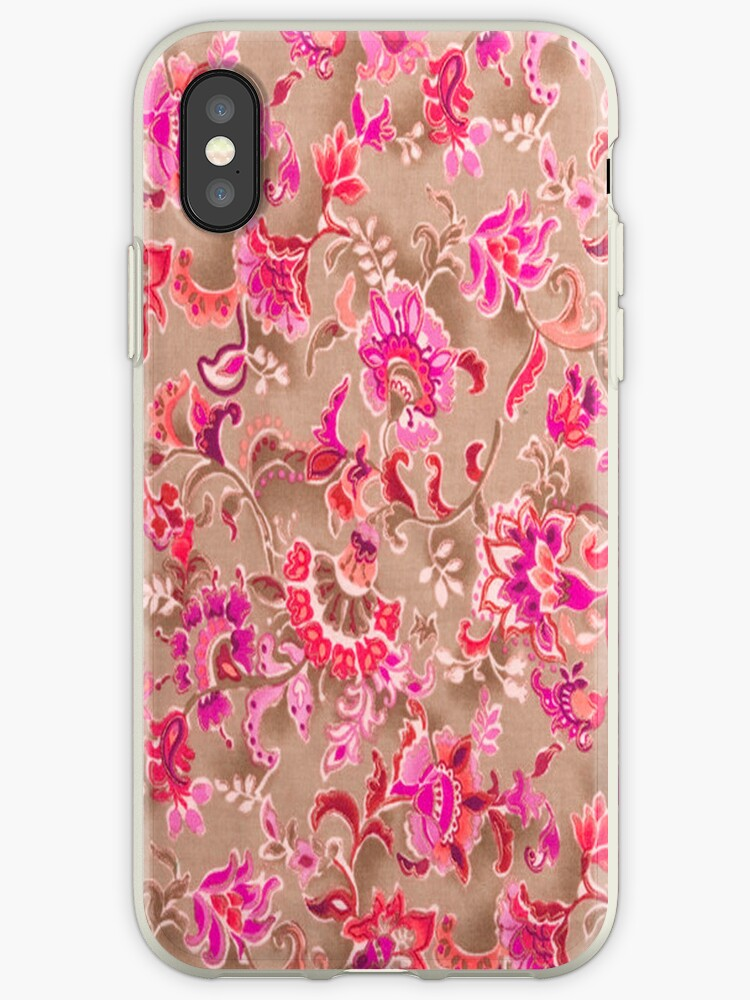 Tossed Allover Pink iPhone Case by purplesensation