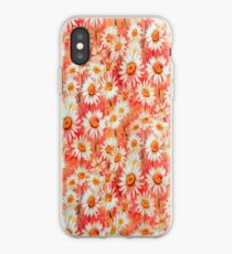 Daisy Floral Peach iPhone Case iPhone Case