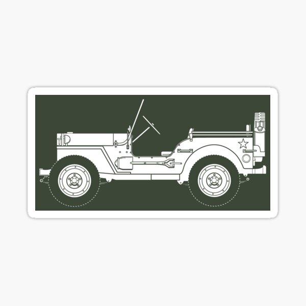 Classic Willy's Jeep Sticker