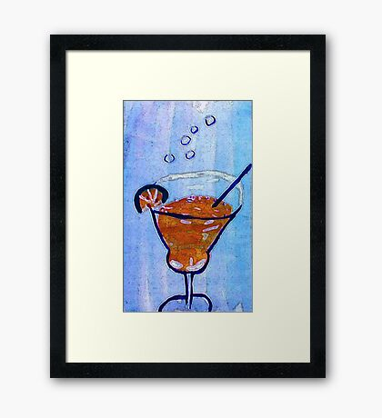 Happy Holidays ,,be safe and smart!  watercolor Framed Print
