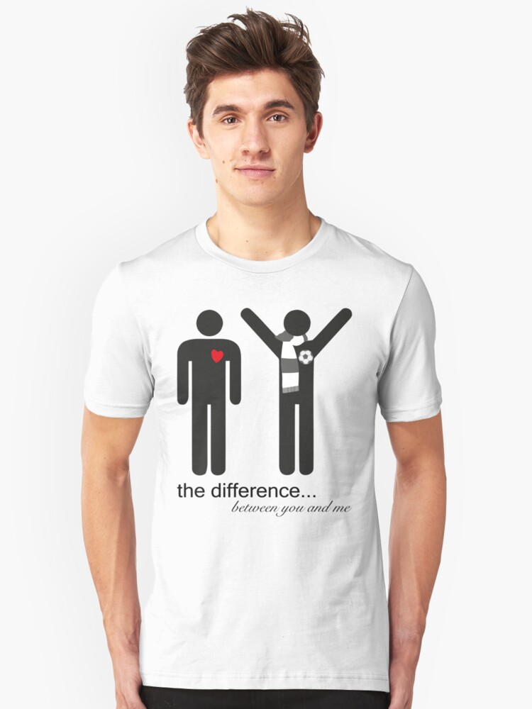 the difference Unisex T-Shirt Front