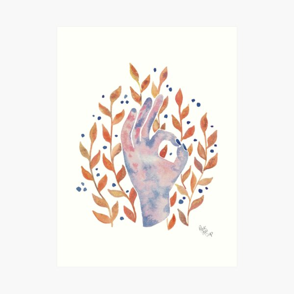 Everything is going to be ok - Copper Palette Art Print
