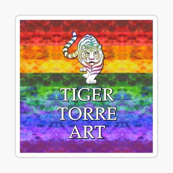 Tiger Torre Art Spectrum Logo Sticker