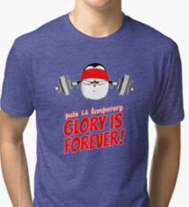 Pain Is Temporary, Glory Is Forever! v.1 Tri-blend T-Shirt