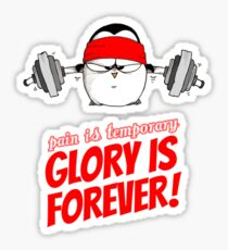 Pain Is Temporary, Glory Is Forever! v.1 Sticker
