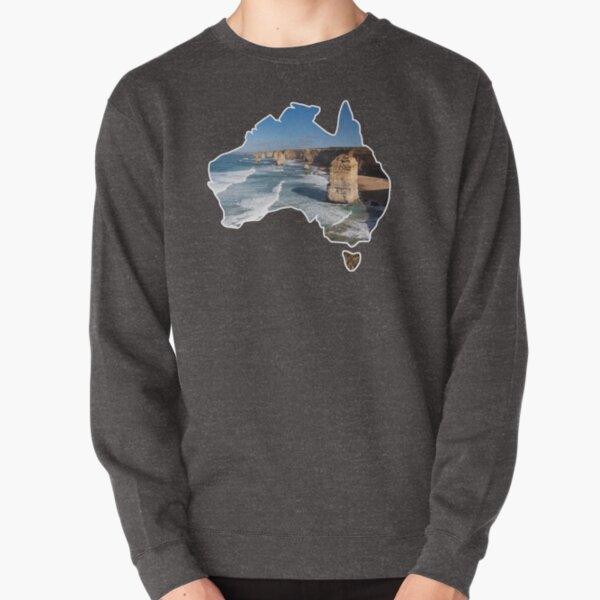 Outlined Australia - 12 Apostles - 12 Apostles - Great Ocean Road Pullover Sweatshirt
