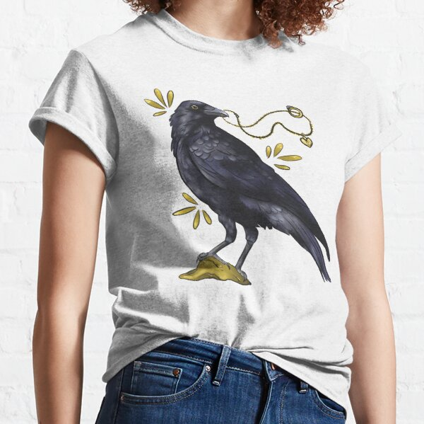 Crow with golden eye Classic T-Shirt