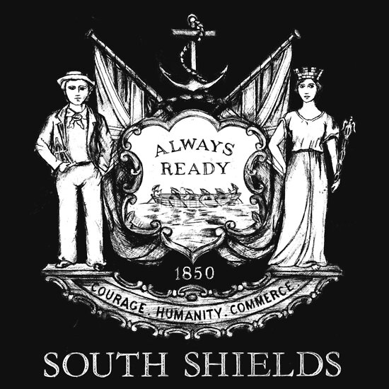 TShirtGifter presents: South Shields Coat of Arms White