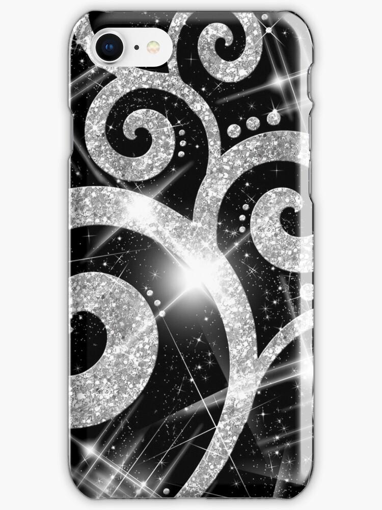 Silver Glitter Swirl by Rewards4life