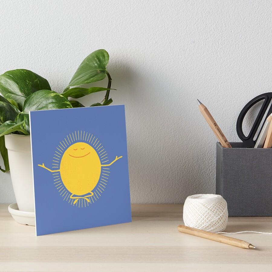 Sun Worshipper Art Board Print