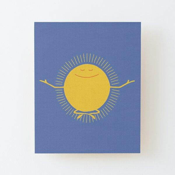 Sun Worshipper Wood Mounted Print