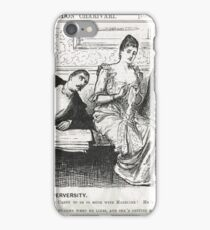 Reverse Psychology Punch Cartoon 1888 iPhone Case/Skin
