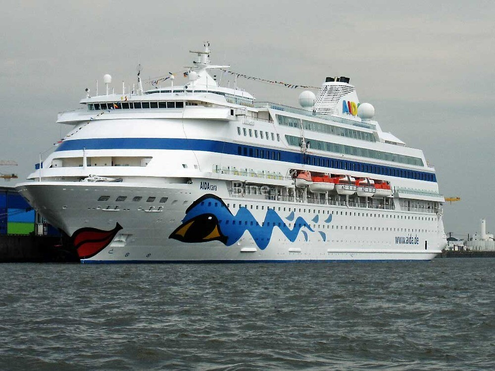 The Aida Cara in Hamburg, Germany by Bine